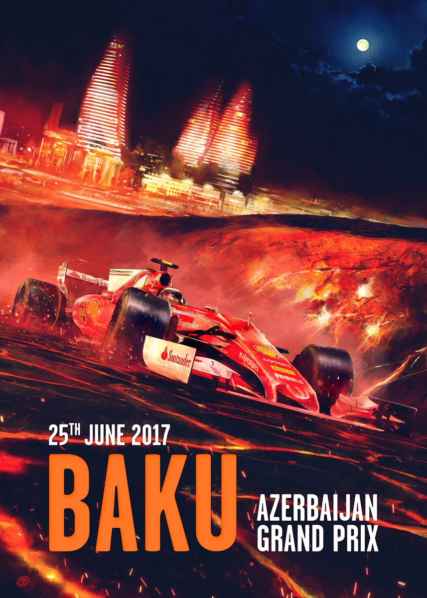 Cover art by Elia Bonetti - #AzerbaijanGP https://t.co/vbqnA7WstB