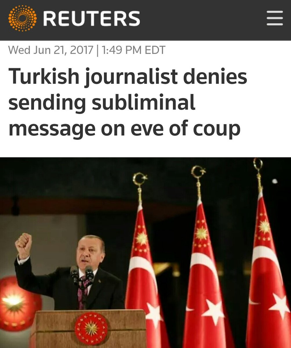 Wow.. what kinda subliminal planet are these guys from?  #AlternateFacts  #autocrat #surreal #Erdogan #hate  http:// reut.rs/2sBgyT6  &nbsp;   @Reuters<br>http://pic.twitter.com/KNEM6bDmSH
