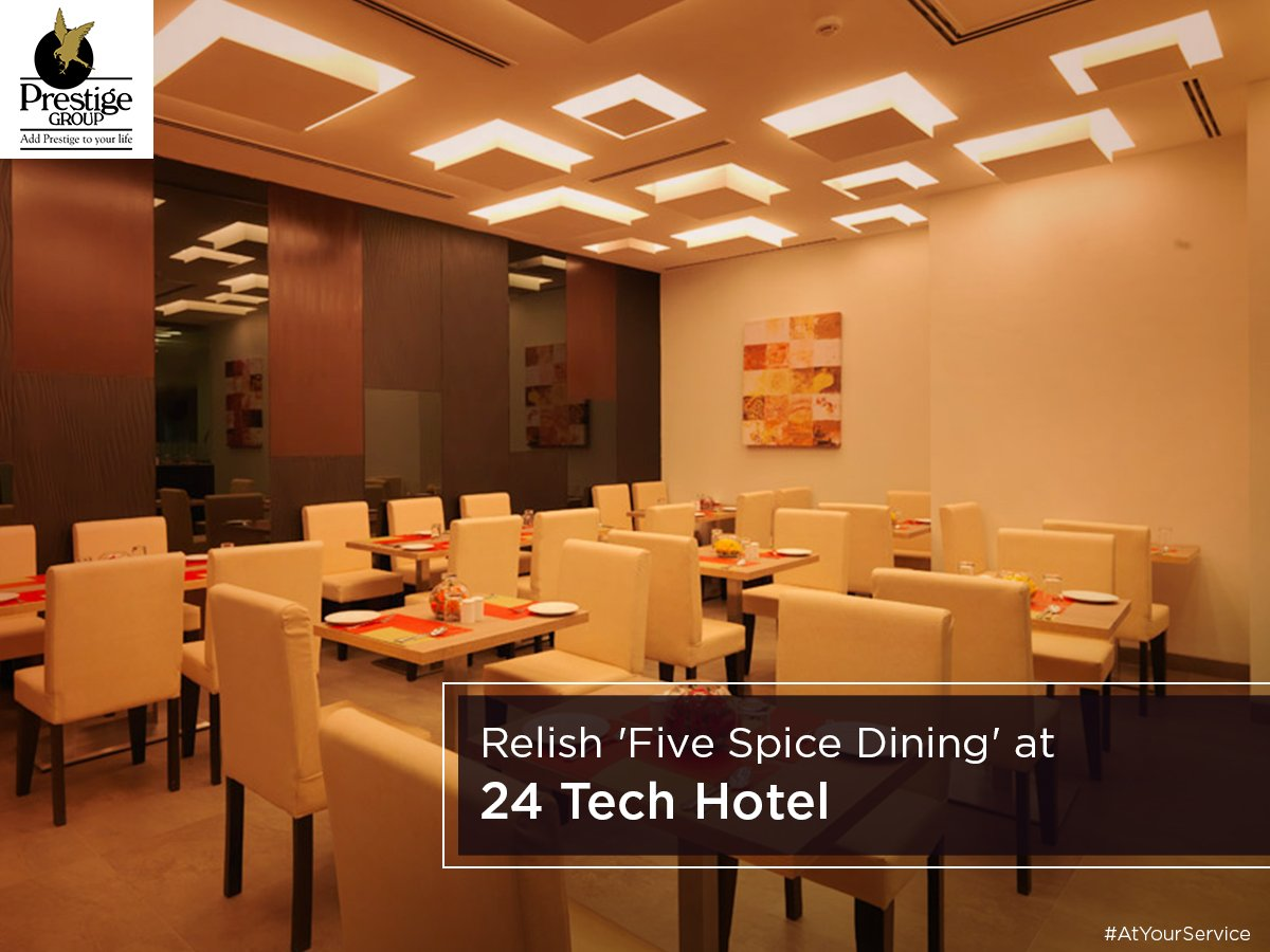 Five Spice Dining' offers #cuisines ranging from #Chinese, #NorthIndian to #SouthIndian Dishes and a list of desserts. #AtYourService<br>http://pic.twitter.com/n1NHHu3Kno