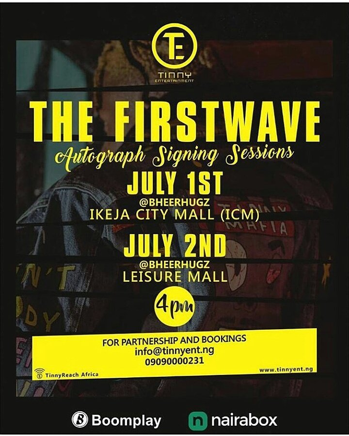 Tinny invites you to @iam_YCEE&#39;s #TheFirstWave Autograph Signing Sessions. #Music #Fun #Entertainment #GiveAways<br>http://pic.twitter.com/67DmJ60tQY