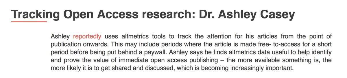 &#39;the more available something is, the more likely it is to get shared and discussed&#39; find #altmetrics use cases on  http:// whatarealtmetrics.com  &nbsp;  <br>http://pic.twitter.com/mFAMlanv8F
