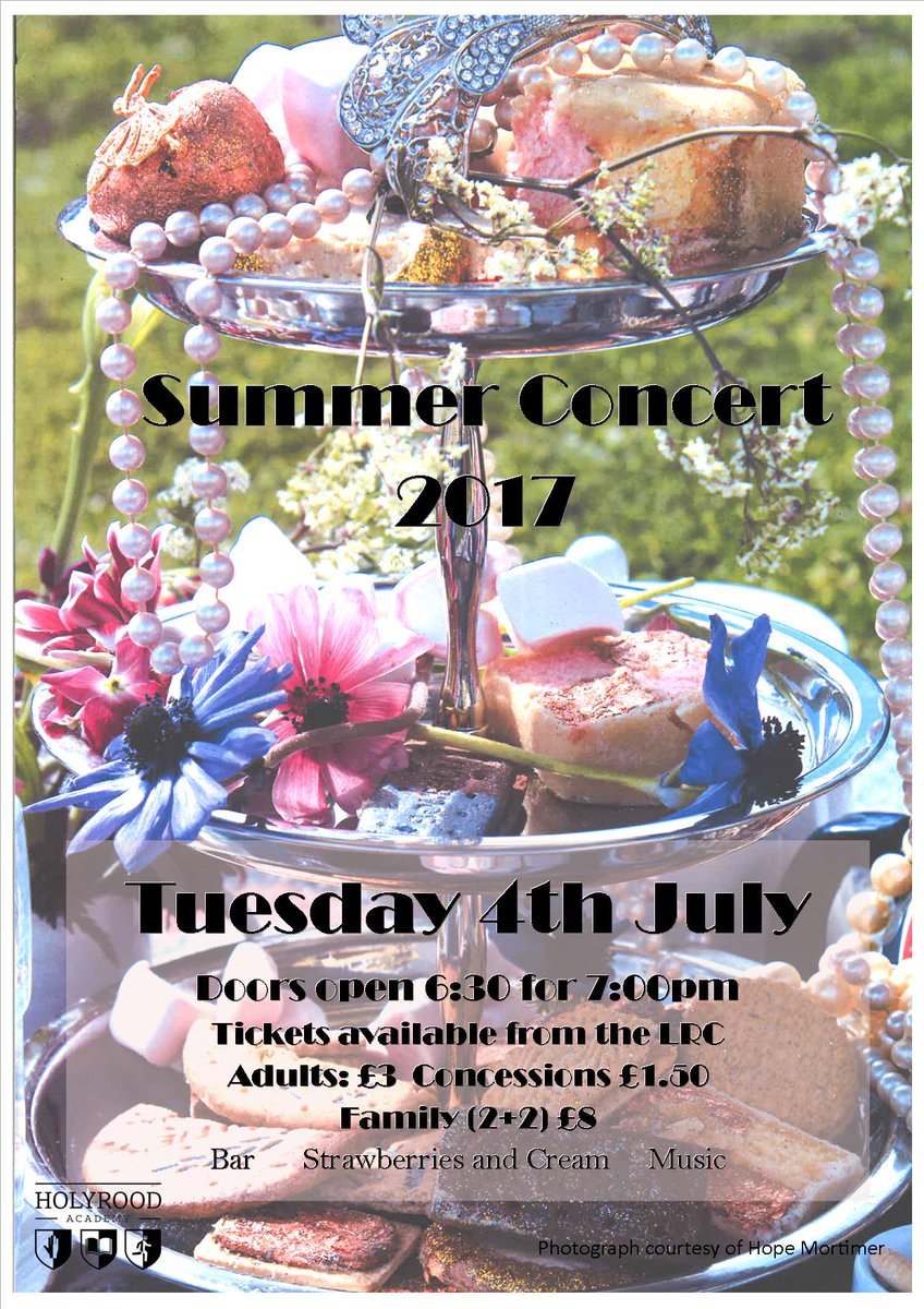 Tickets for the #HolyroodMusic Summer Concert are now on sale. It promises to be a great evening! #concert #choir #orchestra #bigband #music<br>http://pic.twitter.com/Ri4B9cCEeo