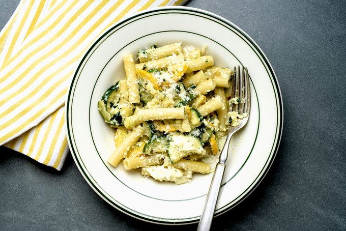 Summer Pasta With Zucchini, Ricotta and Basil Recipe