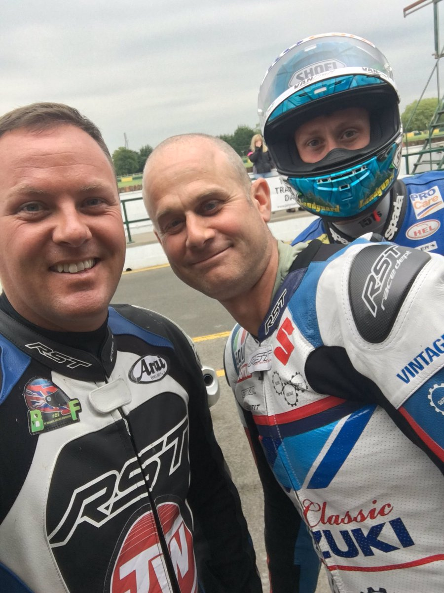 Can't keep a good man down!! @Jimwhit69 photo bomb credit to @deanharrisonTT
