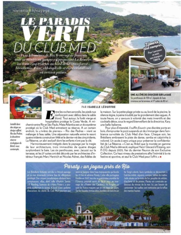 Let&#39;s Go to Brazil with @ParisMatch ! @ClubMedFR @clubmedBR #clubmed #travel #bresil <br>http://pic.twitter.com/039FrisLFx