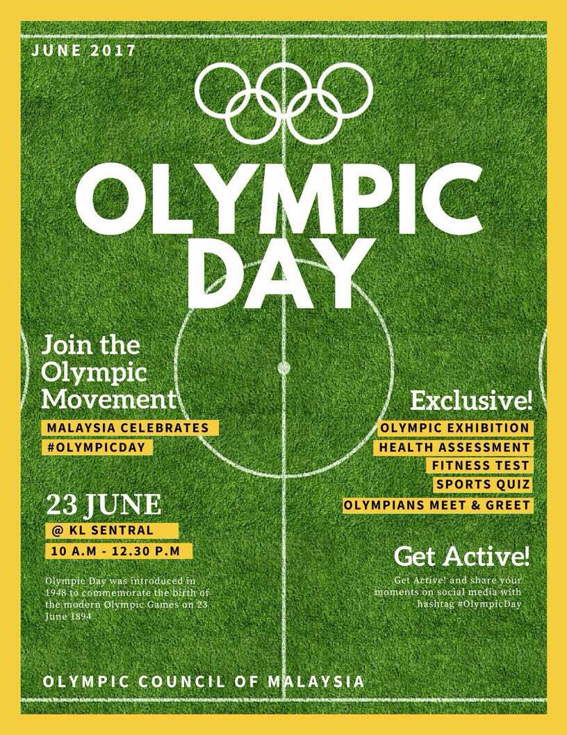 Join me and our Malaysian Olympians at the #OlympicDay celebration in...
