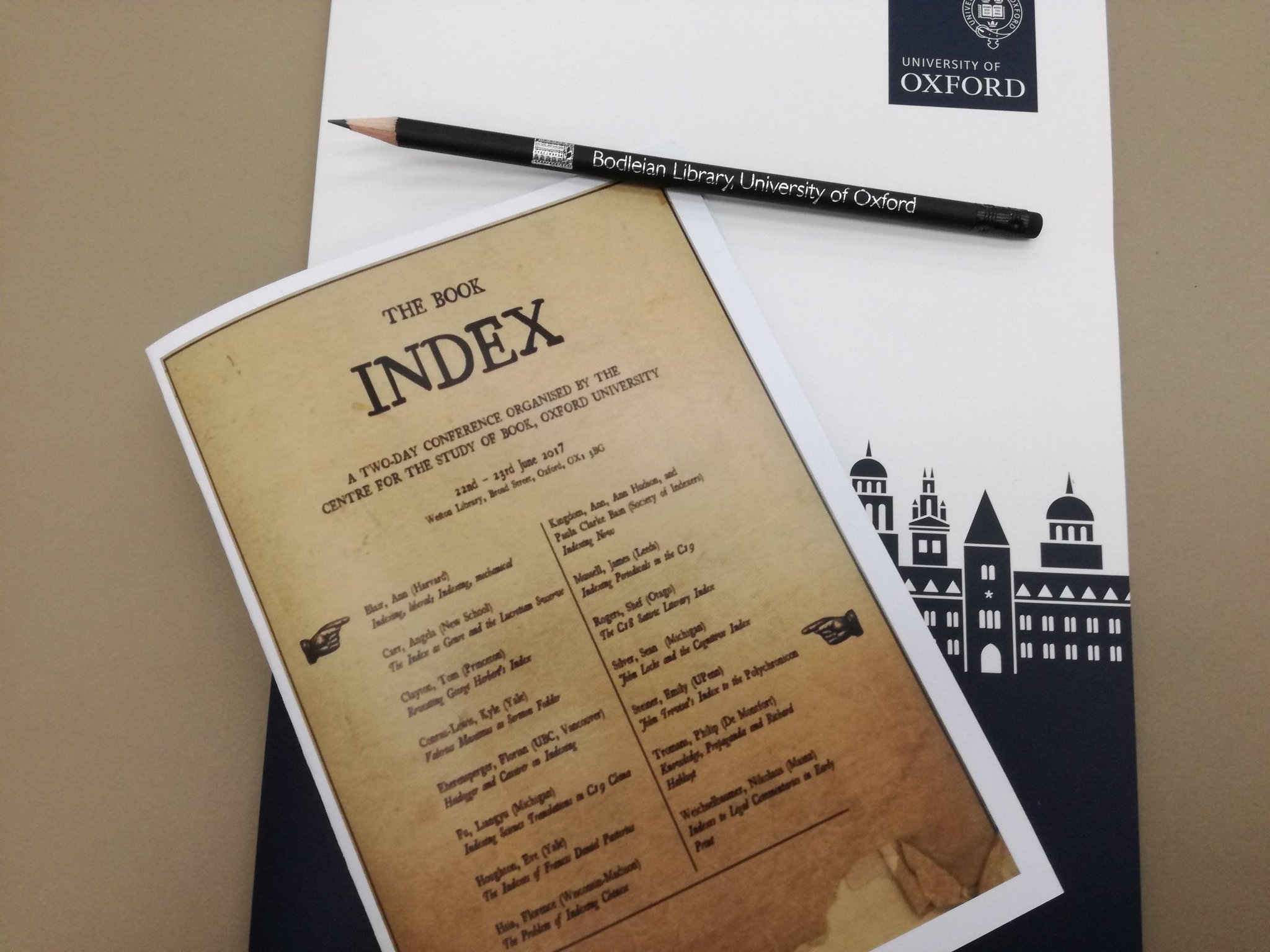 Time for the second book indexing conference of the week @bodleiancsb. Society of @Indexers panel on this afternoon. #bookindex17 https://t.co/PnGazOF7tv