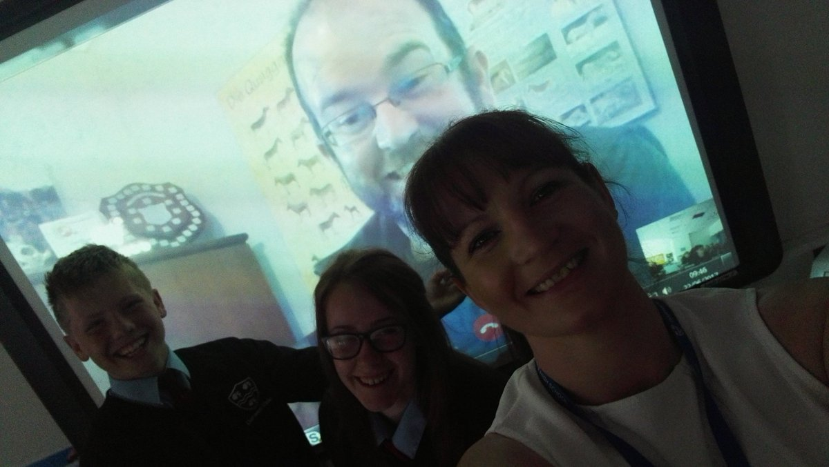 Live conference call to South Africa #QuaggaProject #Biology <br>http://pic.twitter.com/lkzI2YP2ES
