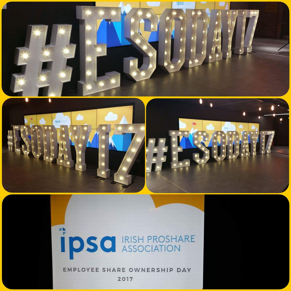 Happy #ESODAY17 from @LEDletters  #hollywoodledletters @IPSA_ie @ProShareUK @Google #Dublin  #Ireland #lightupletters #IPSAawards17  <br>http://pic.twitter.com/aFj9KzN29T