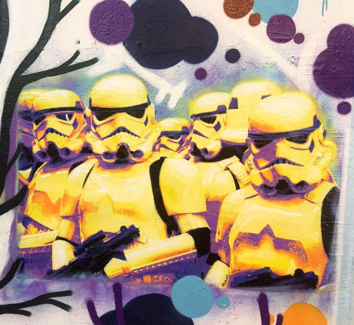 Stormtrooper squad by #olivierbat #matelbe #stormtrooper #starwars #pochoir #darkside #streetart #graff #spray<br>http://pic.twitter.com/fHFO3rJcuJ