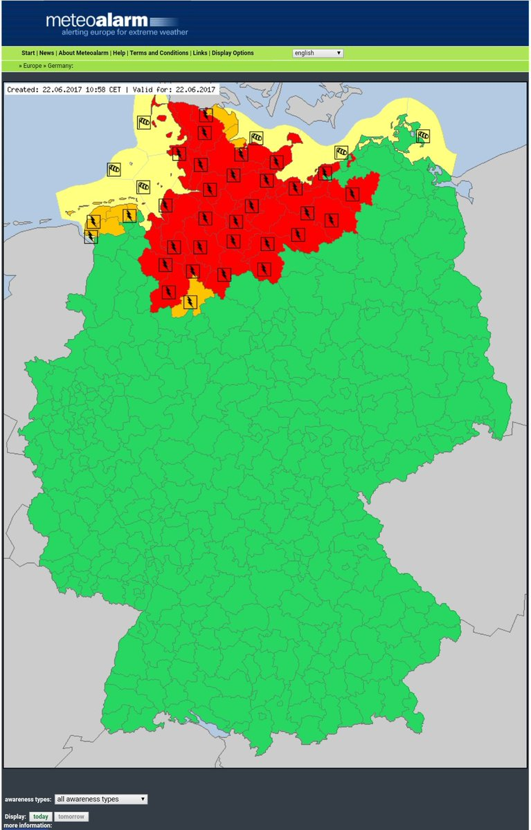 #RedAlert in #Germany due to #Thunderstorms  #SevereWeather #SMEM #RSGE #MSGU #SMEMde<br>http://pic.twitter.com/d8mX3Gxla5