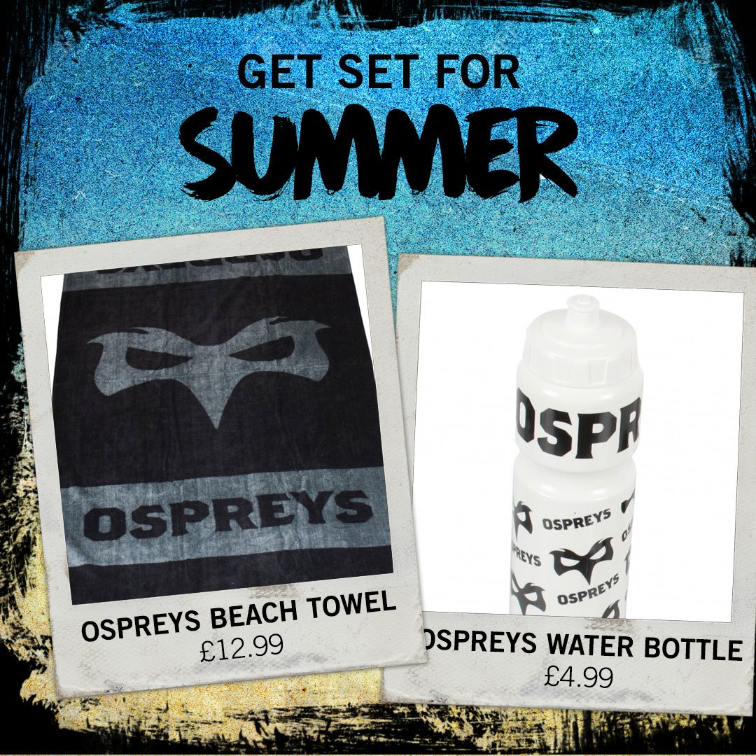 Get set for your summer holidays with the Ospreys! Available in-store...