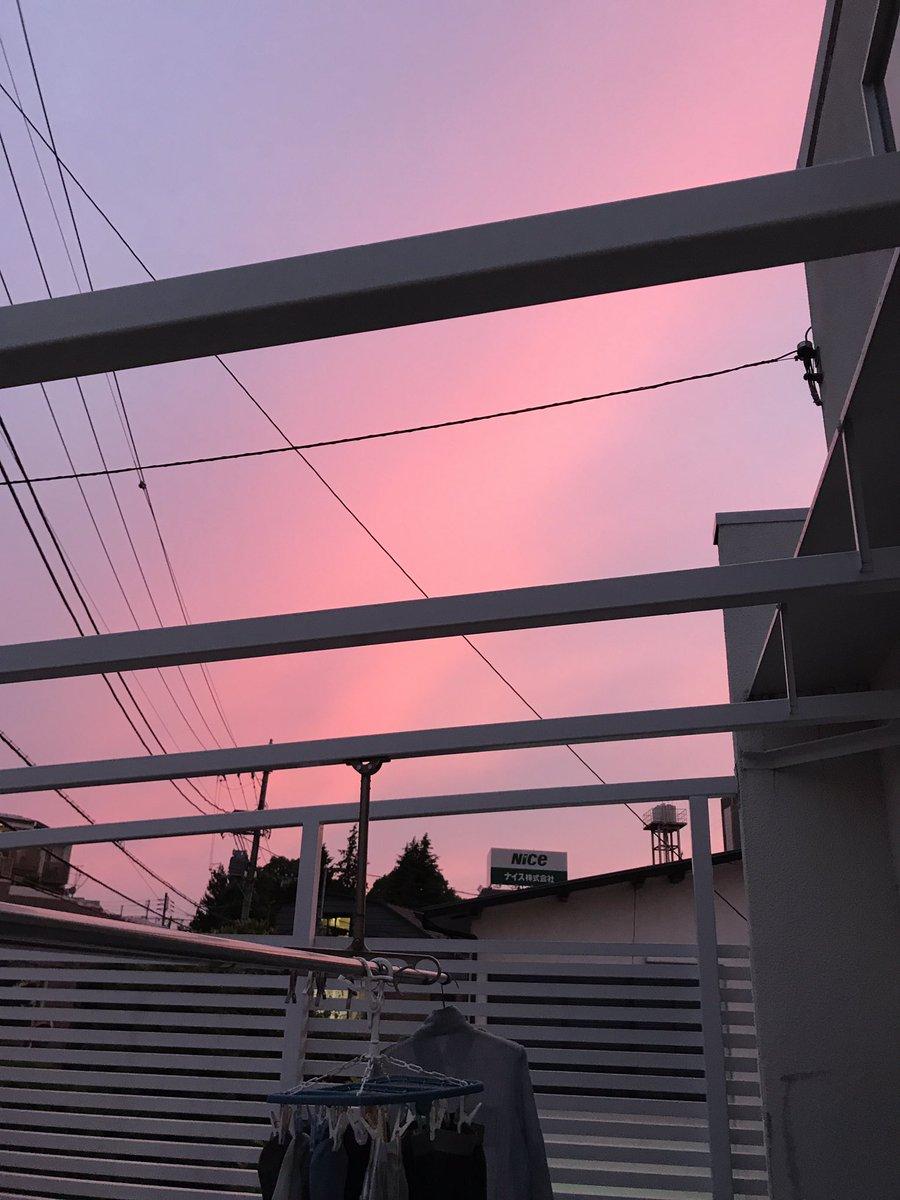 ピンクの夕焼け‼️🤗 https://t.co/84Q02MGJRQ