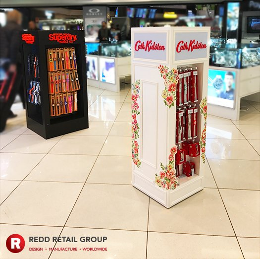 We designed, manufactured &amp; installed these #Superdry #CathKidston FDSU for #GatwickAirport, see the full article  http:// bit.ly/2sExojT  &nbsp;  <br>http://pic.twitter.com/jaBsA4dNdU
