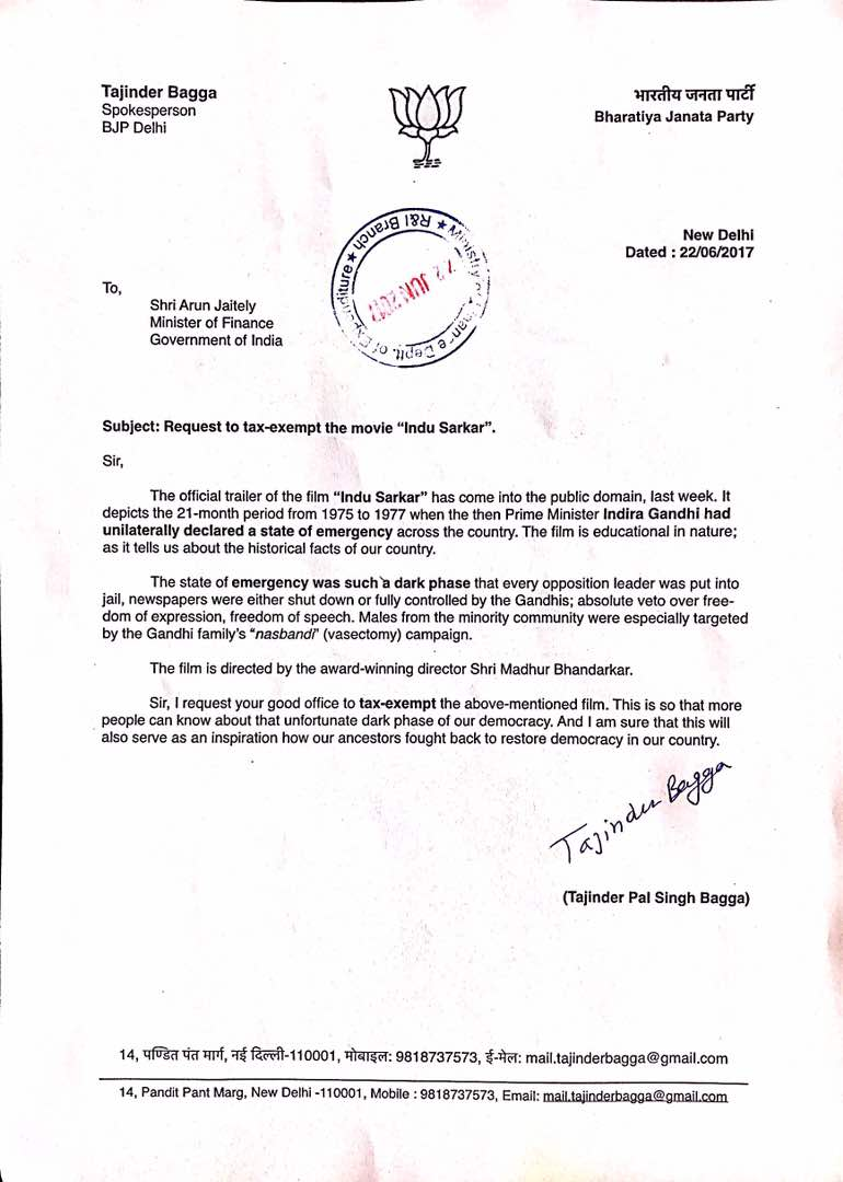 Gave a Letter to Finance Minister Sh @arunjaitley ji to Tax-exempt the...
