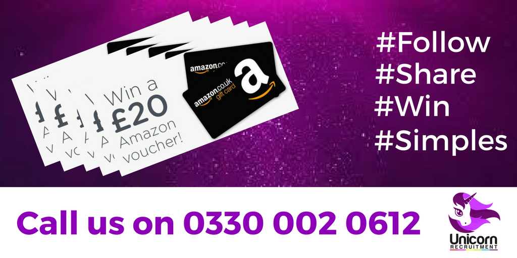Five chances to #win a £20 Amazon Voucher - simply #follow #teamunicorn - #share and tag in your friends. Good luck! <br>http://pic.twitter.com/dXDpXpzYHD