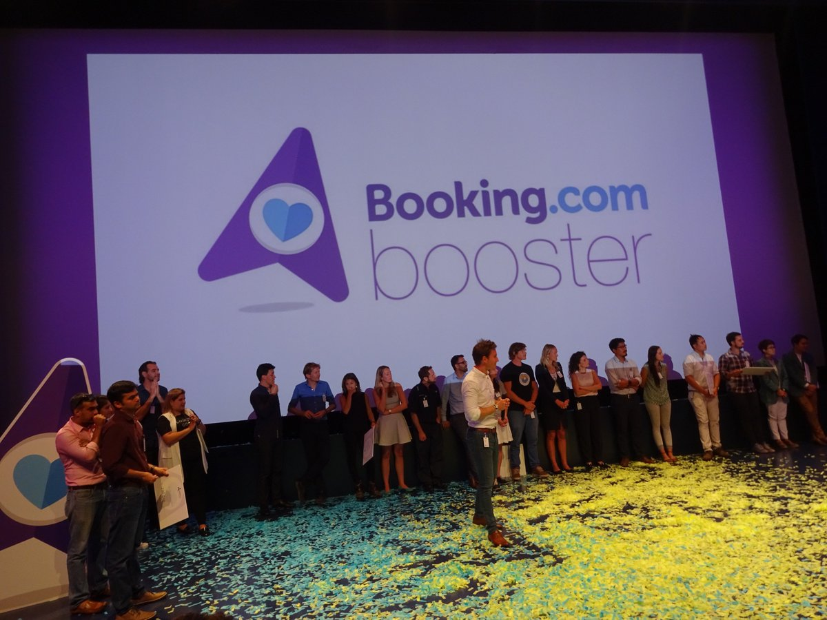 Congrats to @bookingcom, @impacthub, @ImpactHubAMS &amp; the #startups of the #BookingBooster for scaling #SustainableTourism as force for good!<br>http://pic.twitter.com/llChBsvIup