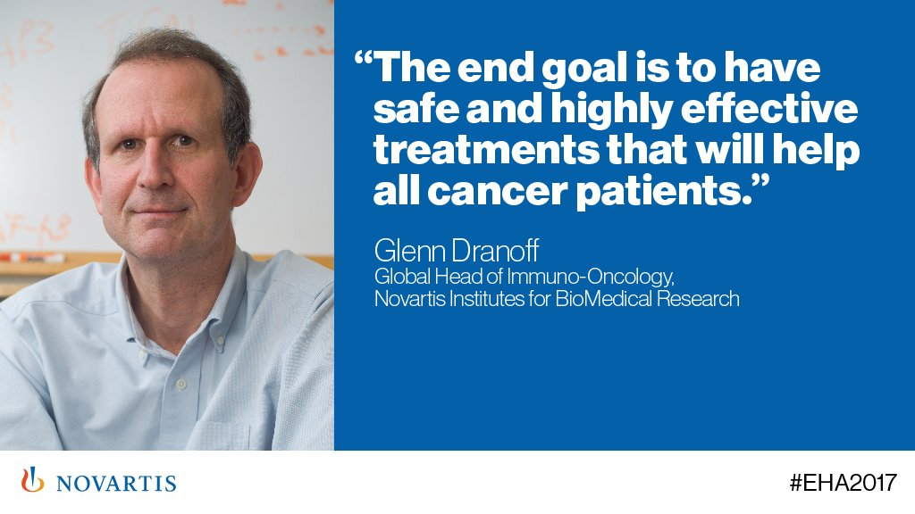 .@NovartisScience's Glenn Dranoff on why we do what we do at #Novartis...