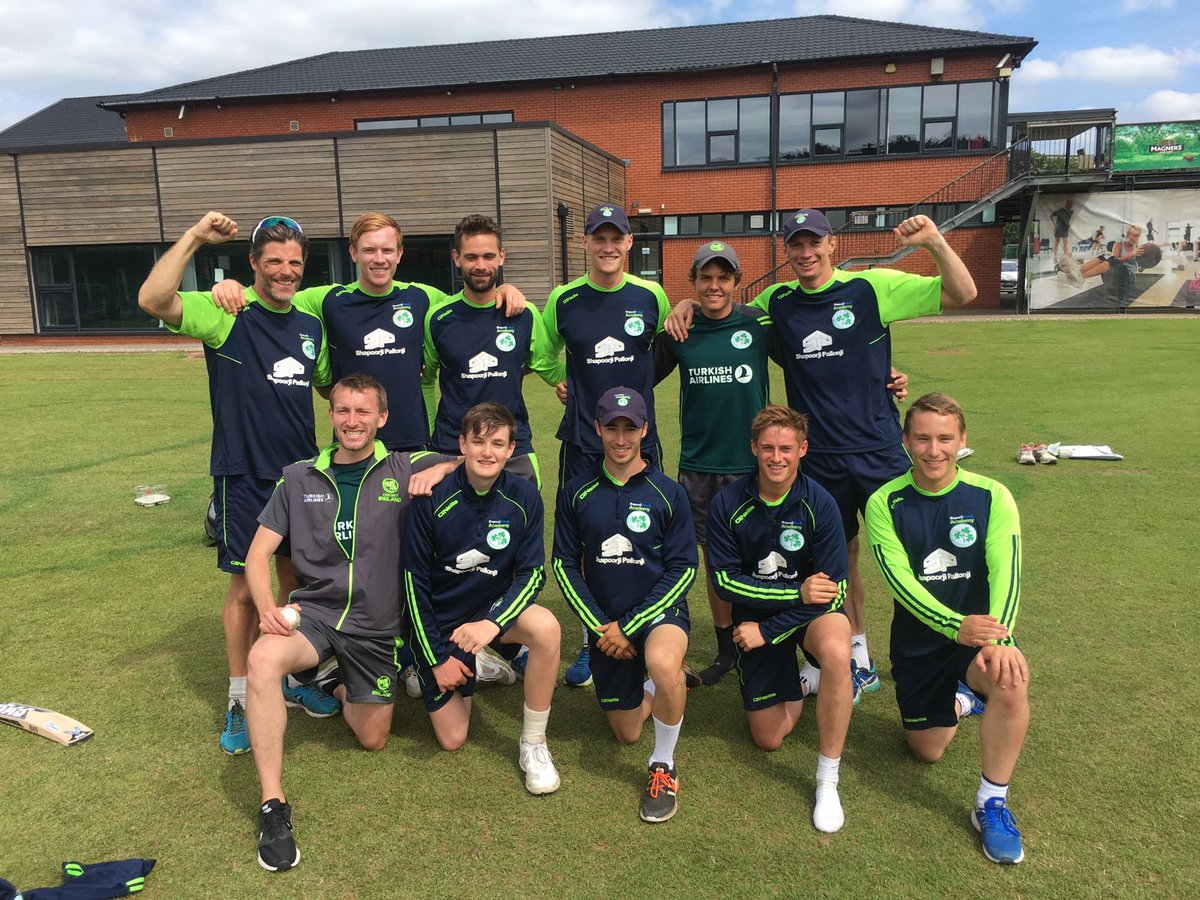 The @Irelandcricket Wolves celebrate today&#39;s great news! #IrelandFullMember #Test thanks to our sponsors @TurkishAirlines @SPREINDIA (1/_)<br>http://pic.twitter.com/7TZF6q1U0P
