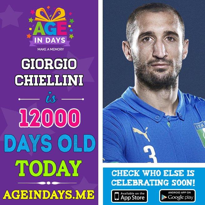 Juventus F.C. player @chiellini celebrates 12,000 days anniversary today!  http:// ow.ly/VSq230cMz9k  &nbsp;   #Chiellini #JuventusFC #NazionaleItaliana<br>http://pic.twitter.com/xAgnJsA2wo