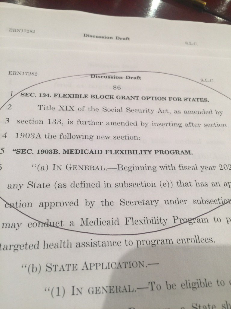 This is the part where they cut Medicaid even more than the House bill...
