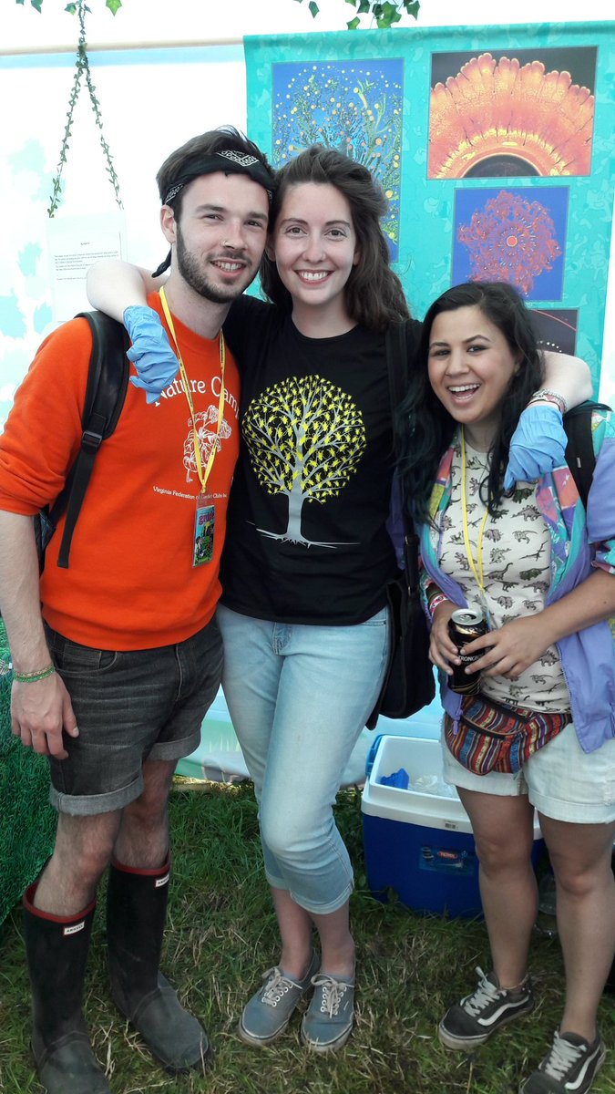 Quick visit with @MeganHasoon  to get swabbed at the @BESroadies @GlastoFest tent by @JGriffinScience #BES #biology #festivalbugs <br>http://pic.twitter.com/h5tvdbfM2V