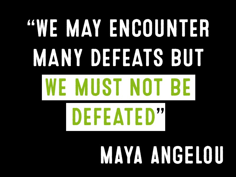 When some damage our planet - we will always get back up and fight to...