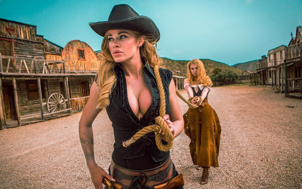 Wild West Women Nude Cumception