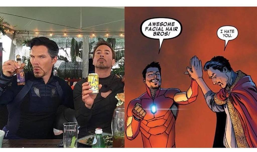 Aaaand I&#39;ve officially peaked. #drstrange #ironman #awesomefacialhairbros  http:// ift.tt/2txKb7N  &nbsp;  <br>http://pic.twitter.com/nIOFFEAUV4