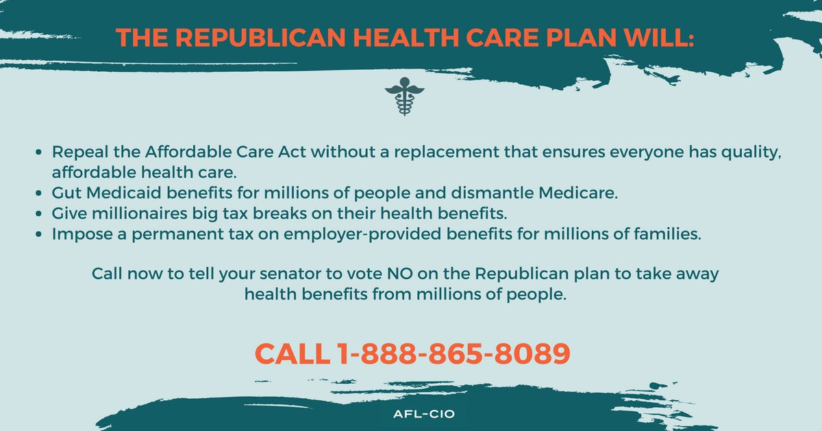 Now is the time to call your Senators &amp;  tell them to #Vote NO on the  @SenateGOP #HealthCare Bill!  1-888-865-8089  #ProtectOurCare #1u <br>http://pic.twitter.com/XM9hI5jxkW