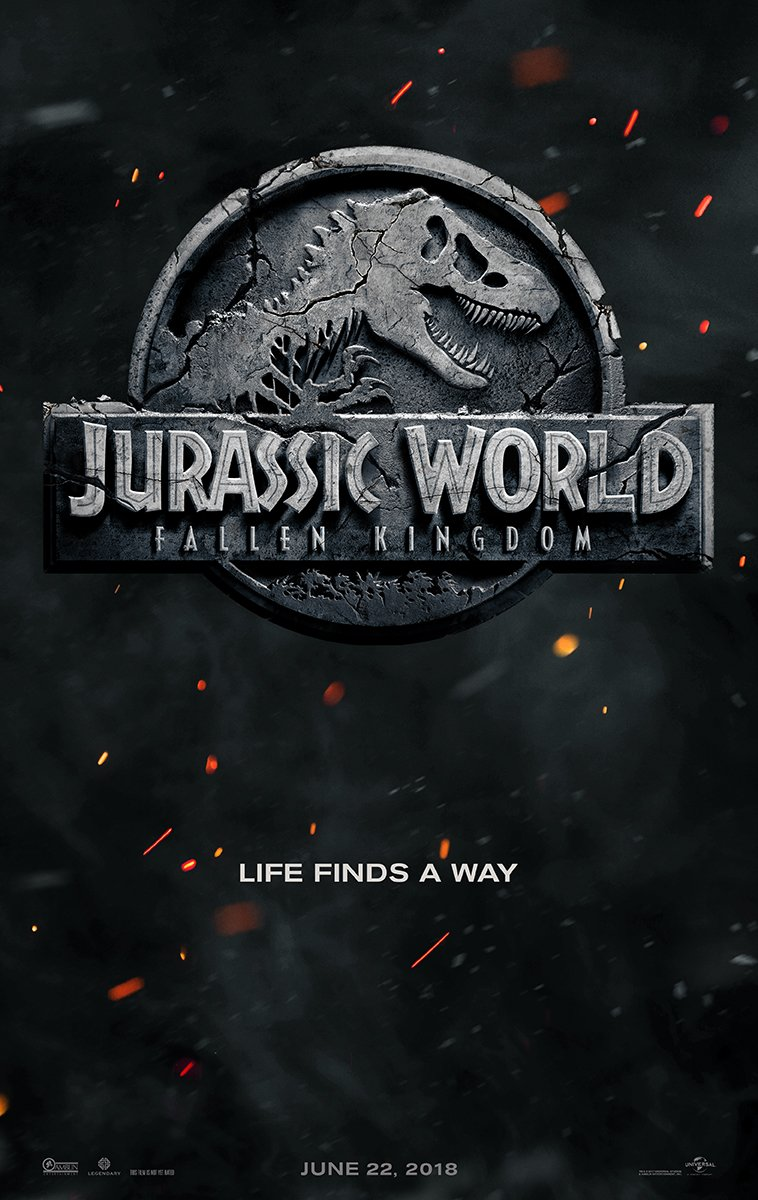 Jurassic World 2 ganha cartaz e título oficial: Fallen Kingdom   https...