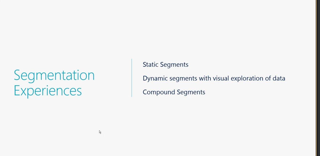 Segmentation Experience in Dynamics365 @MSFTDynamics365  #MSDyn365 https://t.co/y73TpNcgyO