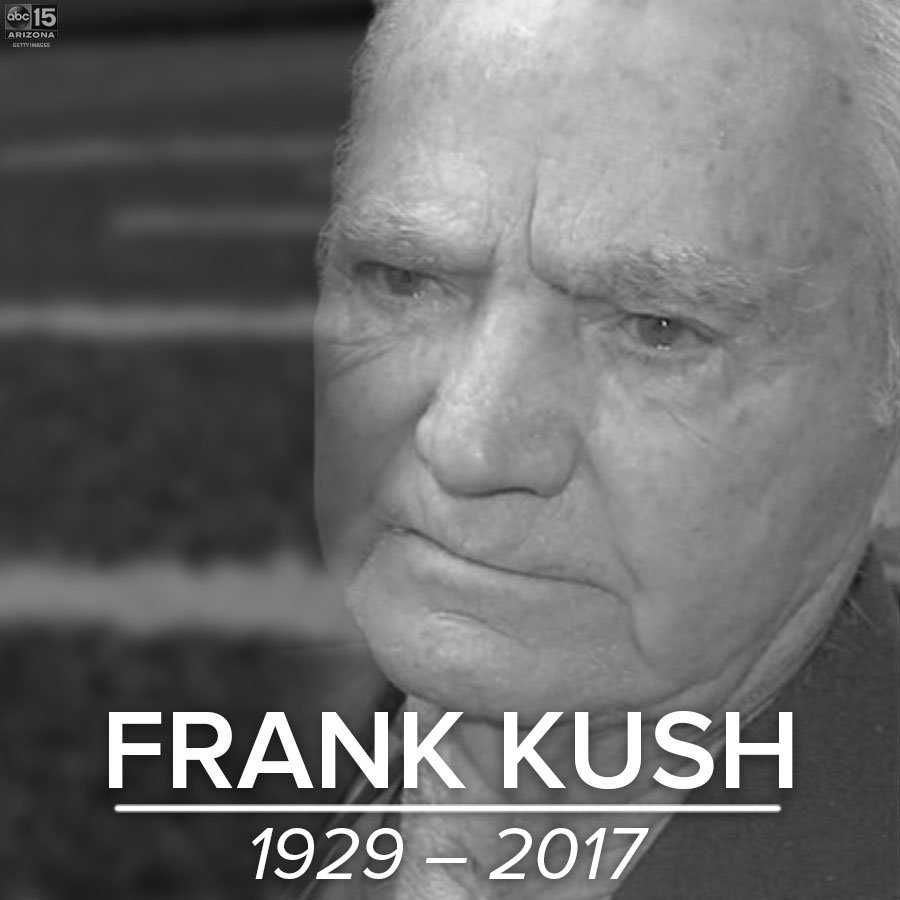 JUST IN: Former #ASU football coach Frank Kush dies at Valley hospital, sources say https://t.co/bXo8CjVkcV #abc15