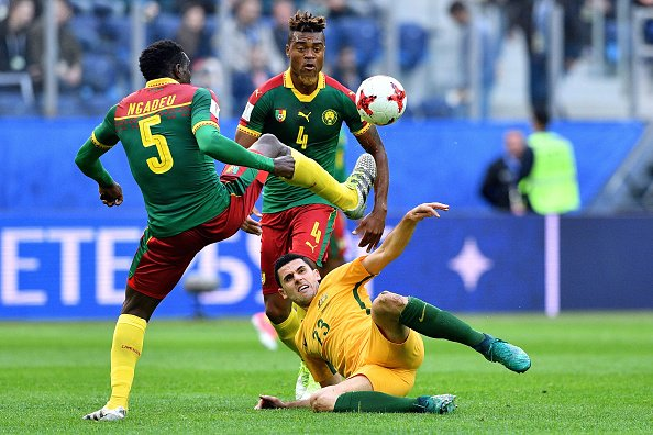 Al final del PT, Camerún derrota 1-0 a Australia con gol de André-Fran...