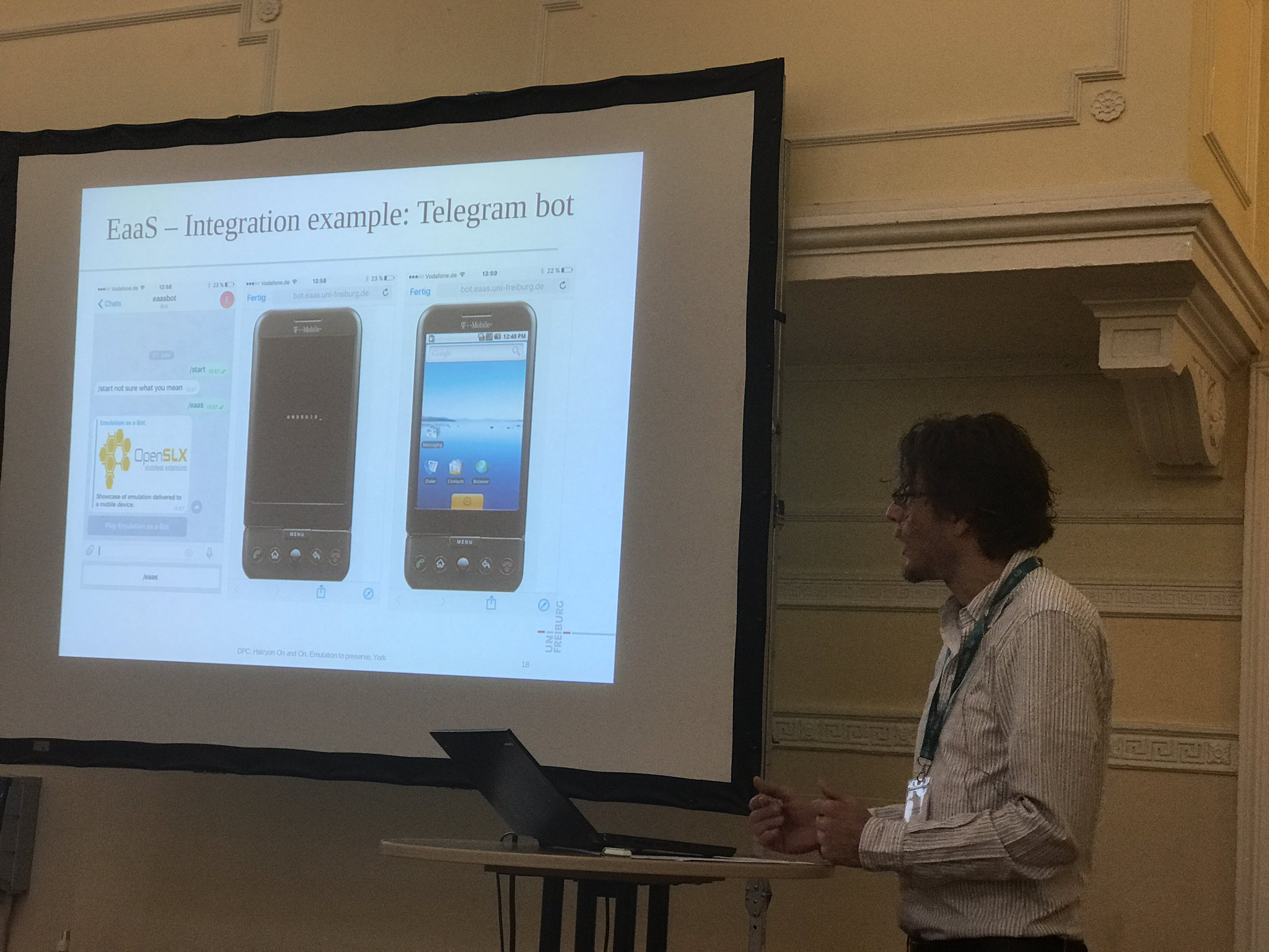 Phone emulation at #DPC_emulate from Freiburg https://t.co/2OXrEX5FuE