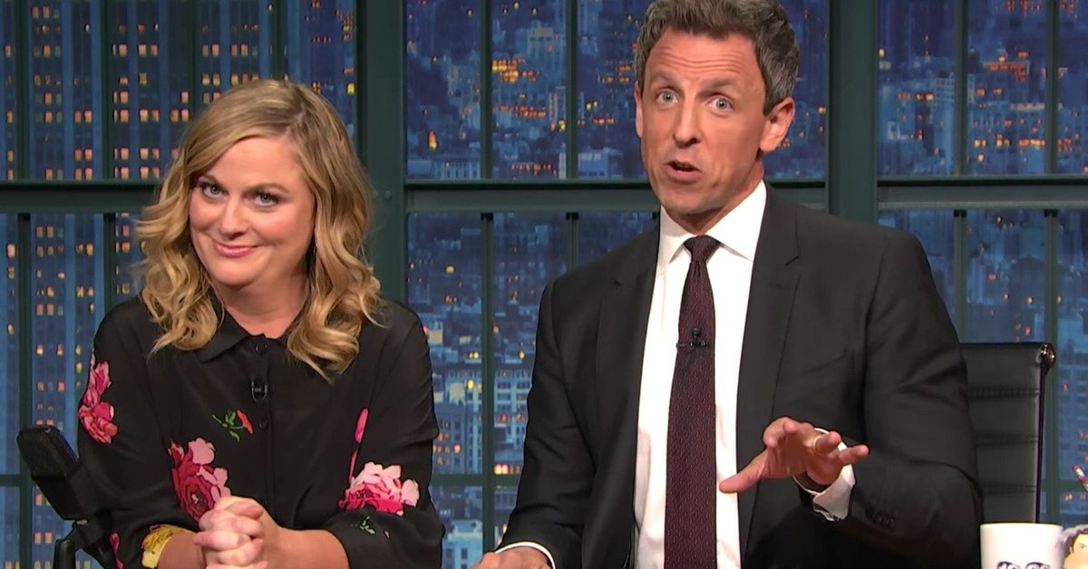 Seth Myers and Amy Poehler reunite to slam pro-Trump protesters https://t.co/LXKcY3C7rp