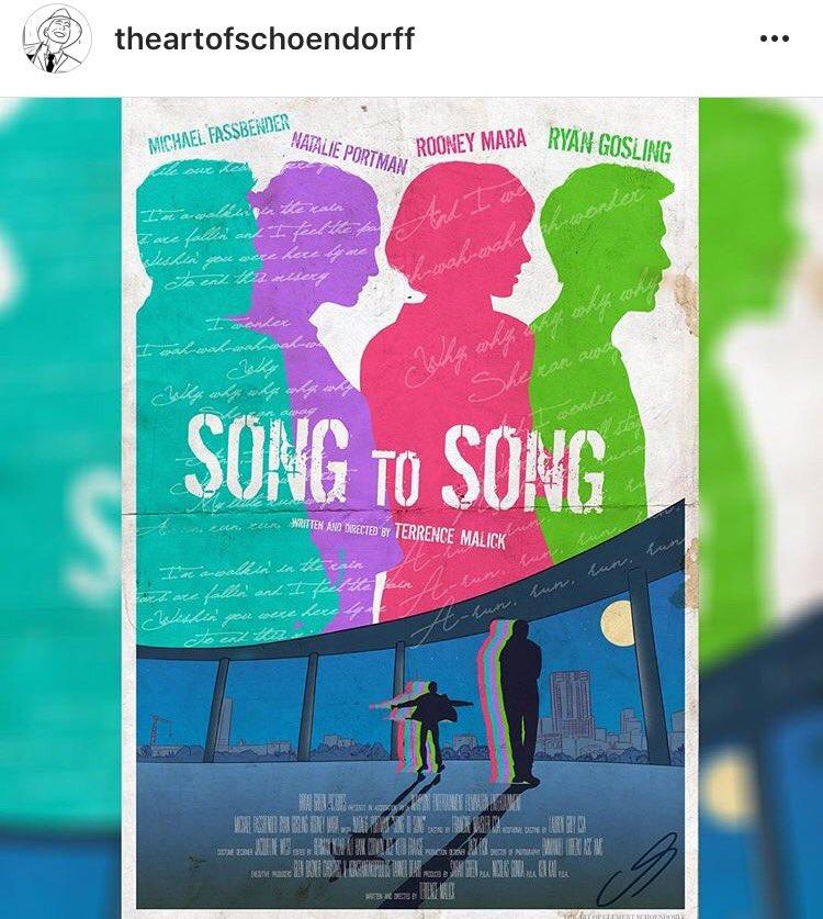 A very pretty Song to Song poster #Portman #Malick #Mara #Gosling #Fassbender<br>http://pic.twitter.com/jwpn4sbCYZ