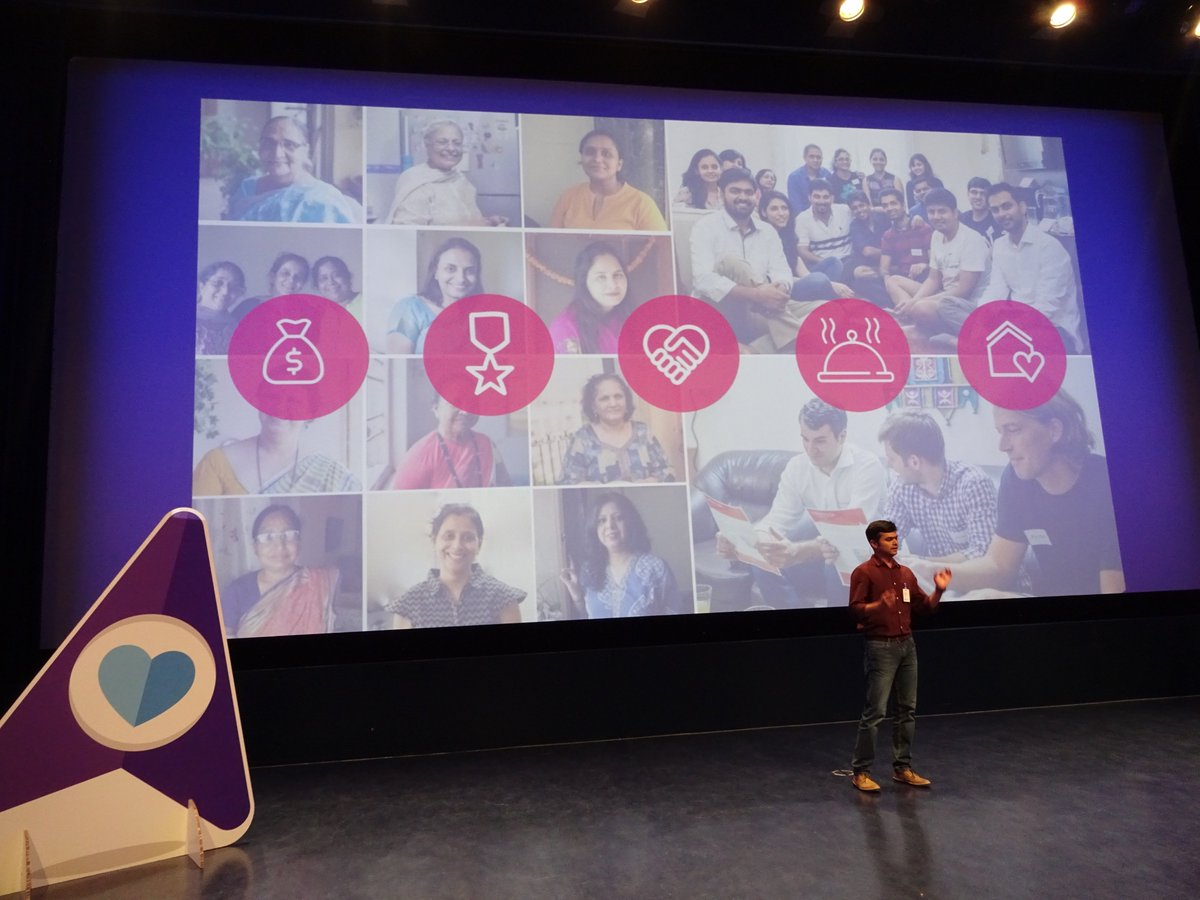 .@authenticook is 1st up at the #BookingBooster pitch final. They already helped 1m women generate income through their #food platform<br>http://pic.twitter.com/XLSfhl2GYd