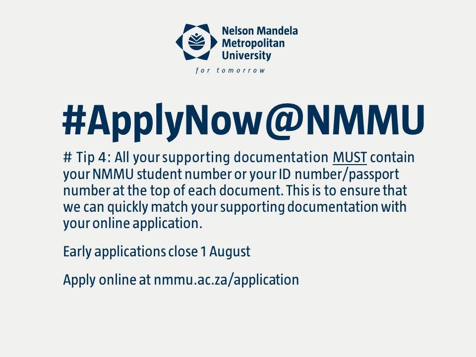 Mandela University On Twitter ApplyNow NMMU Tip No 4