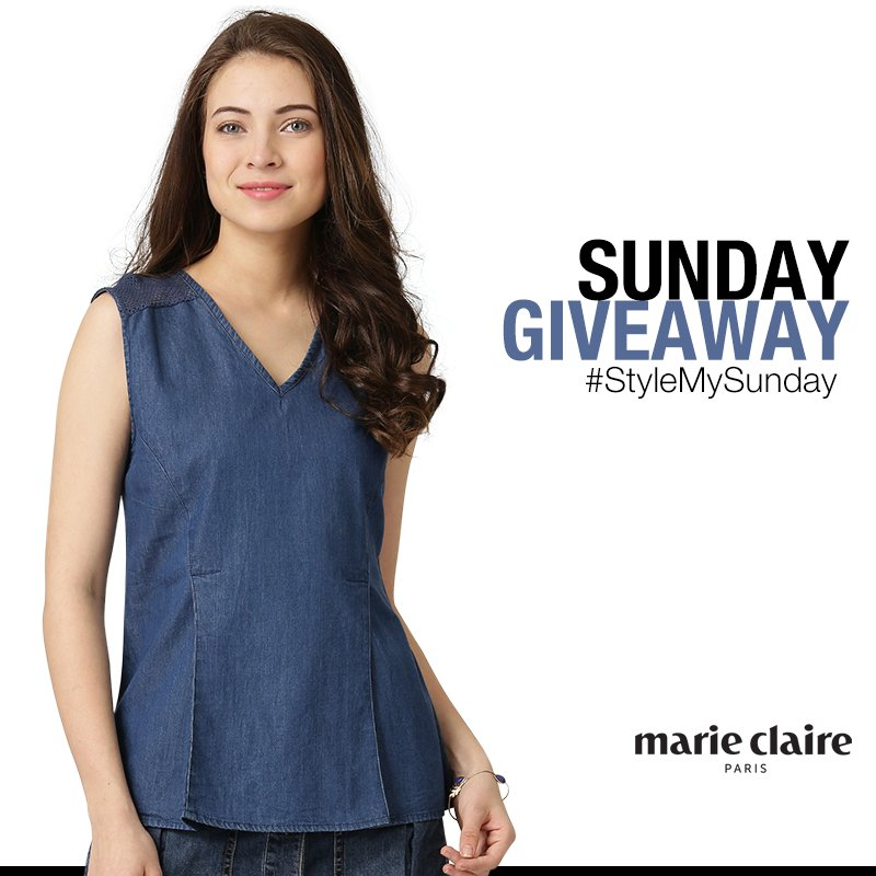 SUNDAY GIVEAWAY! One #lucky person gets to win this #denim #top! Hurry up! Know more at  http:// bit.ly/2rUUIg7  &nbsp;    #Sunday #GiveAway<br>http://pic.twitter.com/ydY8uVx1p5