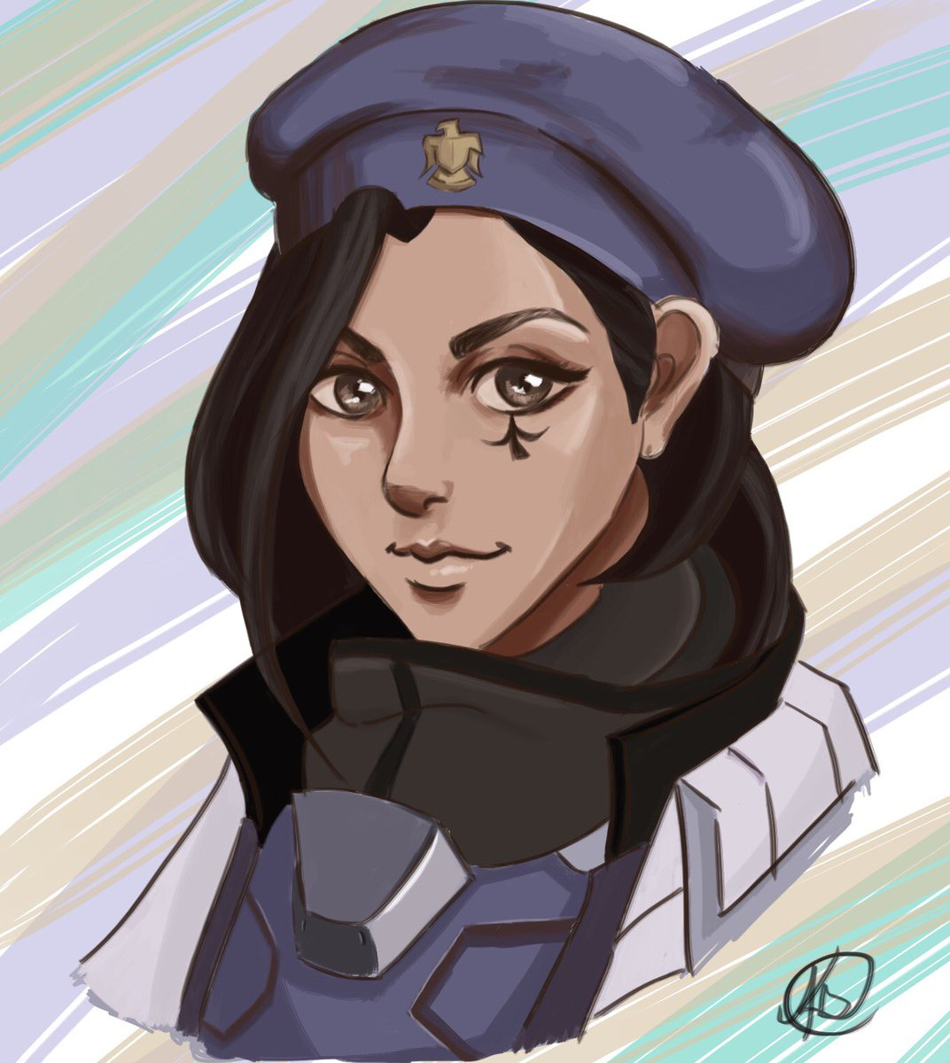 Doing the alphabet #art #challenge and this is my A! Ana Amari! @PlayOverwatch #Overwatch #digitalart #anaamari #gamedev #gameart<br>http://pic.twitter.com/l8RnPlZBXL
