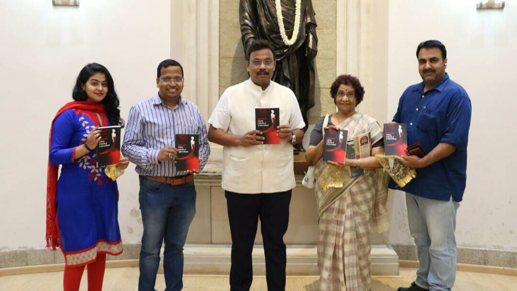 Unveiled the #novel &#39;A bride, a murderer and a trail of blood&#39; authored by Lakshmi Natraj in an event in #Mumbai.<br>http://pic.twitter.com/39rXvUIebo