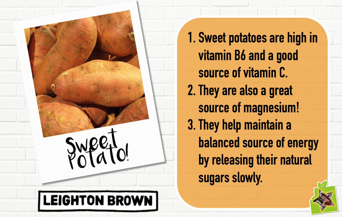 Ingredient of the week is Sweet Potato! A tasty #vegetable, used in our Star Brand @LeightonBrownLC Sweet Potato crisps! #ingredient <br>http://pic.twitter.com/RtYXNY0TxW