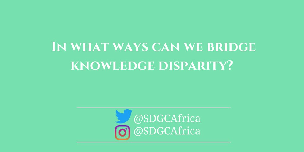 Join the #discussion! Do you have #solutions to #knowledgedisparity? Use the hashtag #MAIConference and #share your #ideas #SDGCAfrica<br>http://pic.twitter.com/PEyymwiSyf