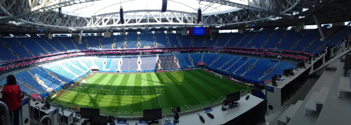 Saint Petersburg Stadium 😍 #ConfedCup #CMRAUS https://t.co/F3g0Eo54yy