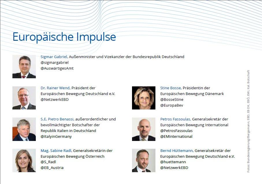 Monday we&#39;ll debate #FutureEU w @sigmargabriel, amb #Benassi &amp; int guests @ItalyinGermany! #pressrelease #EBDMV  https://www. netzwerk-ebd.de/mitteilungen/p ress-invitation-to-the-ebd-network-day-2017-with-foreign-minister-sigmar-gabriel/ &nbsp; … <br>http://pic.twitter.com/5X8t8L96Np