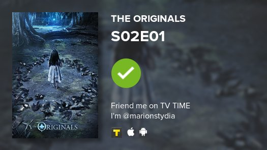 I've just watched episode S02E01 of The Originals! https://t.co/ZMAffU...