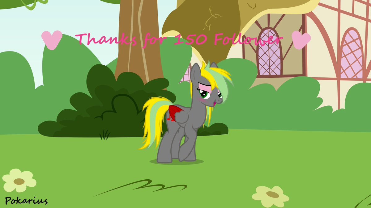 Thanks for over 150 Follower, you all are a great support for me, thank you all so much.   #mlp #brony<br>http://pic.twitter.com/5jvQ6DB2w0