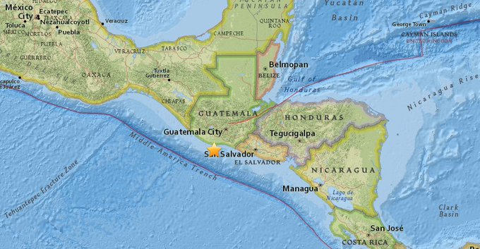 Magnitude 6.8 #earthquake reported off the coast of Guatemala, the USGS reports. The quake struck 23.7 km (14.7 mi) SW of Puerto San José.
