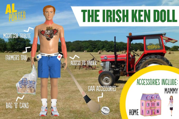 Our 'Irish Ken Doll' as suggested by our listeners!  👆🏻📱 Tag your scaldy mate who looks like one of these! #CallMeAl